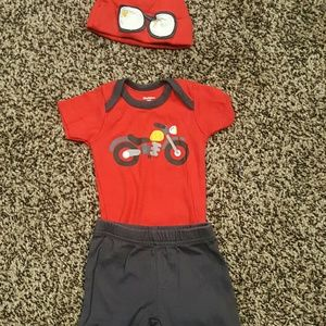 0-3 month boys 3 piece outfit